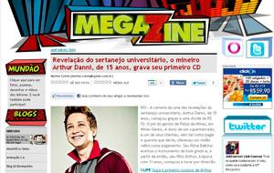 Arthur Danni é destaque no Megazine