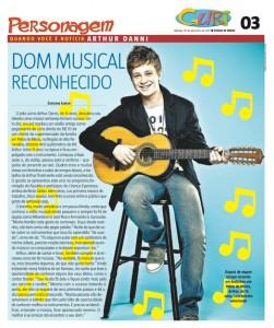 Arthur Danni é destaque no jornal O Estado de Minas