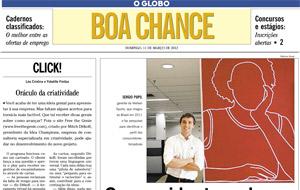 O We do Logos saiu no Boa Chance em matéria sobre empresas que aproveitam a Copa e Jogos para lucrar