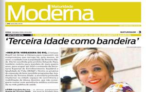 Secretária Cristiane Brasil concede entrevista ao caderno Maturidade Moderna do jornal O Dia. Confira!
