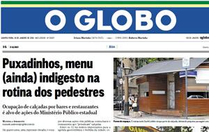 Casamento de frequentadores de projeto da SESQV é assunto de matéria no O Globo.
