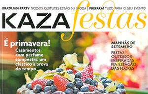 Os drinks salgados da Blitz Open Bar foram destaque na revista Kaza Festas