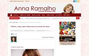 O salão Bellíssima Beauty divulgou o tratamento de blindagem dos fio no site da Anna Ramalho