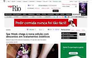 A Revista Veja Rio online divulgou a nona edição do Spa Week