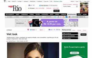 O salão Bellíssima Beauty foi destaque na matéria Wet Look da revista Veja Rio online