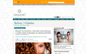 No site DaquiDali, o hairstylist do salão Single Hair & Beauty foi fonte para matéria sobre babyliss