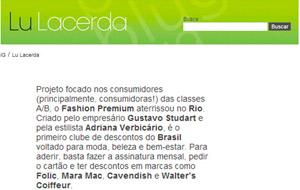 O portal Lu Lacerda publicou nota sobre o lançamento do Fashion Premium