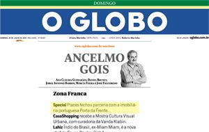 A coluna Ancelmo Gois publicou registro sobre a parceria da Special Places com a imobiliária portuguesa Porta da Frente