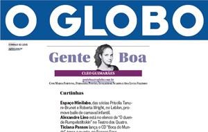 A coluna Gente Boa publicou registro sobre a chegada da Meladinha em Búzios