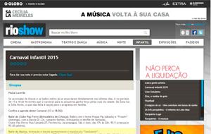 O Rio Show Online divulgou nota sobre o Carnaval infantil do Marina Barra Clube