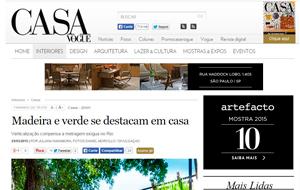 O portal da revista Casa Vogue publicou matéria sobre o projeto Casa das Acácias, da arquiteta Monica Vieira