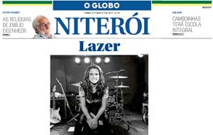 O show de Luiza Casé, no Ibeu São Francisco, foi destaque no O Globo Niteroi