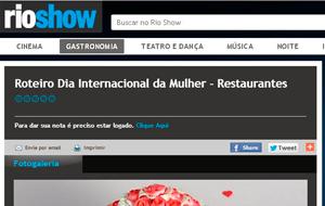 O Rio Show online publicou registro sobre o kit especial da Wine Mundi para o Dia Internacional da Mulher