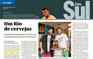 A cervejaria Three Monkeys Beer é destaque em matéria sobre cervejas cariocas, no O Globo Zona Sul