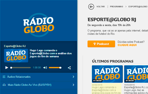 A parceria do exame Simply Fit Brasil com o time do Vasco é destaque no programa Esporte@Globo, da Rádio Globo