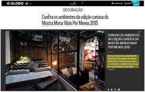 A participação da arquiteta Marcelle Castro Neves na mostra Morar Mais Por Menos é destaque no Caderno Ela Online