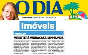 O lançamento do Olímpico Méier Residencial Clube é destaque no jornal O Dia