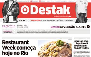 Destak falou sobre o início da 15ª edição do Rio Restaurant Week