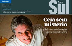 Laura Regueiro, da Quinta Casa Amarela, é destaque em matéria sobre ceias natalinas, no O Globo Zona Sul