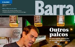 O Globo Barra faz matéria sobre artistas empreendedores e fala sobre Skipper, a nova pizzaria de Marcelo Serrado