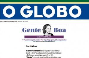 A dermatologista Roberta Bibas é destaque na coluna Gente Boa, no jornal O Globo