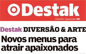 Destak publica matéria de Dia dos Namorados e fala sobre menus especiais do Restô, Barthodomeu, La Carioca e Dos Santos!