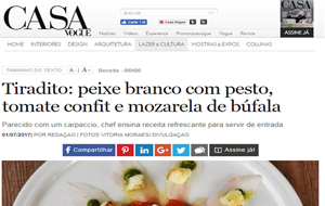 Páru Inkas dá receita do seu novo Tiradito no site da Casa Vogue