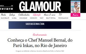 Entrevista da Glamour com o chef Manuel Bernal, do Páru Inkas