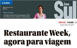 Restaurant Week Delivery é destaque no Globo Zona Sul