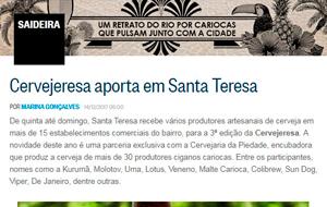 O festival Cervejeresa foi destaque no blog Saideira, no Globo Online